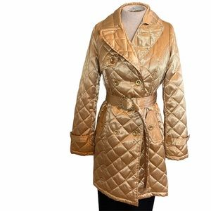 South Pole Quilted Belted Jacket Gold Medium